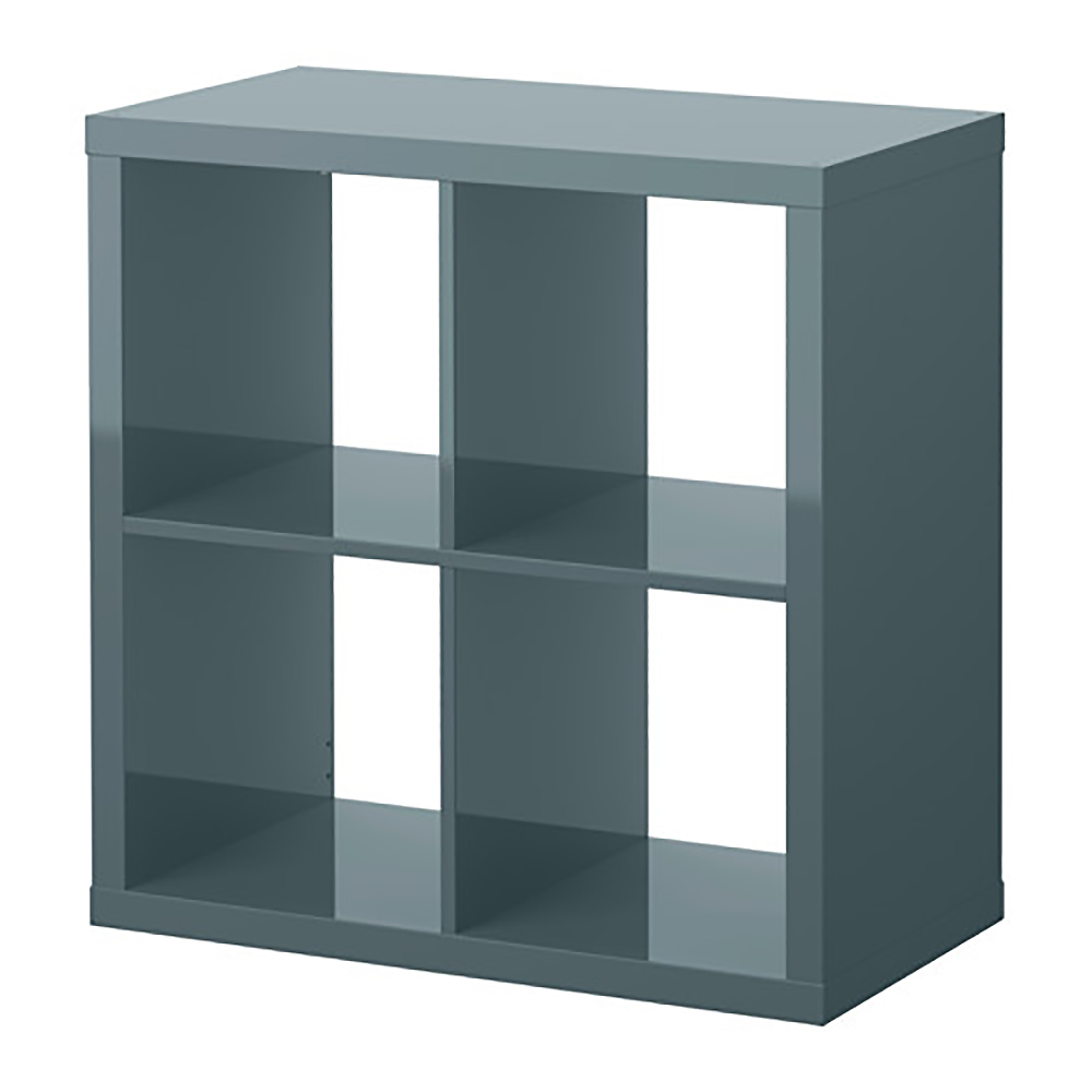 oggetto bim kallax etagere shiny gray turquoise small ikea. Black Bedroom Furniture Sets. Home Design Ideas