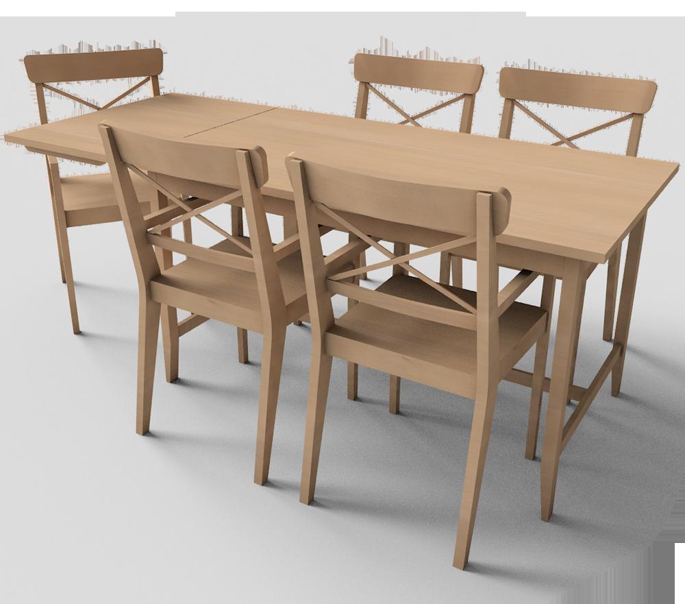 Ikea Dining Bench: Leksvik Dining Table