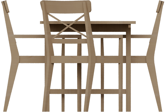 Cad And Bim Object Leksvik Dining Table Ikea