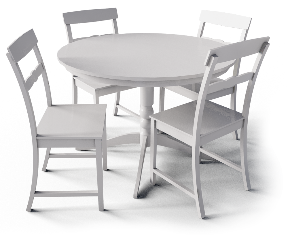 Objets bim et cao table a manger liatrop ikea for Table manger ikea