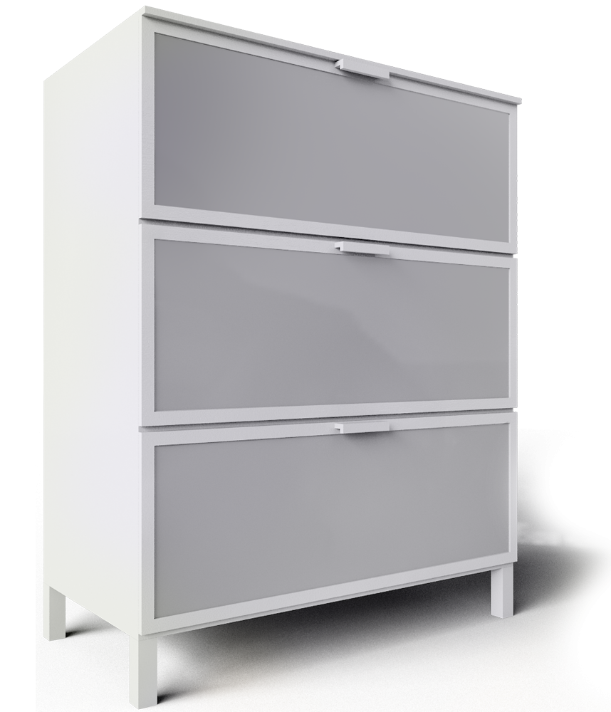cad i bim objekti aneboda white chest of 3 drawers ikea. Black Bedroom Furniture Sets. Home Design Ideas