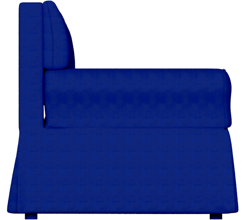 CAD and BIM object - Ektorp Sofa Dark Blue - IKEA