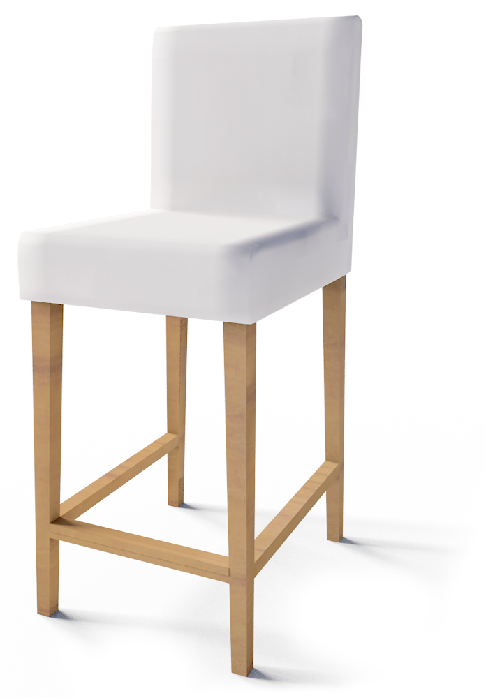 Cad and bim object henriksdal bar stool ikea