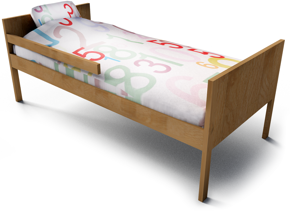 Kritter Child Bed  3D View