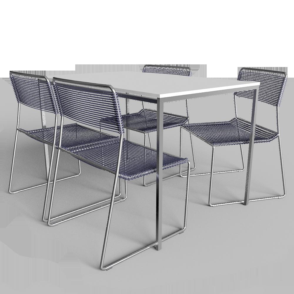 objets bim et cao mella table et 4 chaises ikea. Black Bedroom Furniture Sets. Home Design Ideas