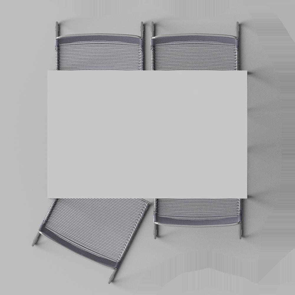 CAD- und BIM-Objekte - Mella Tisch und 4 Stuhle - IKEA