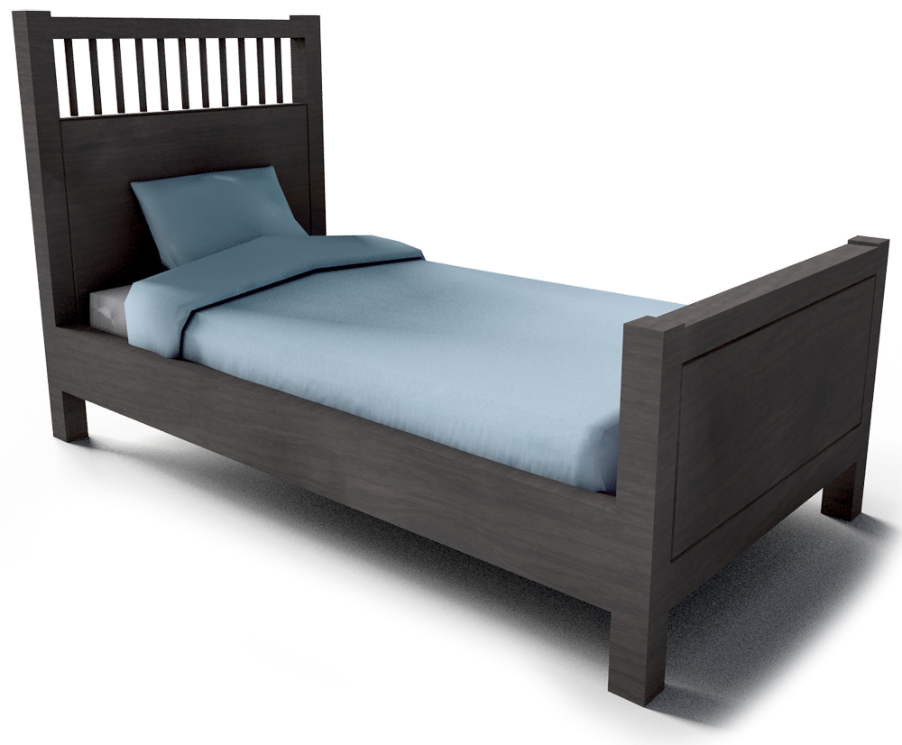 Hemnes Single Bed Frame Small 3D View Part 51