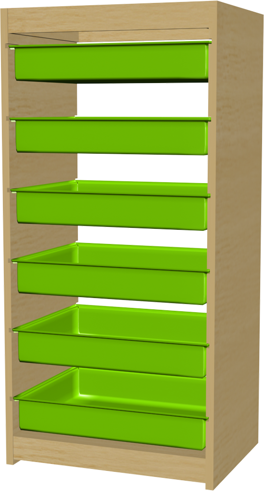Trofast Storage Boxes  3D View