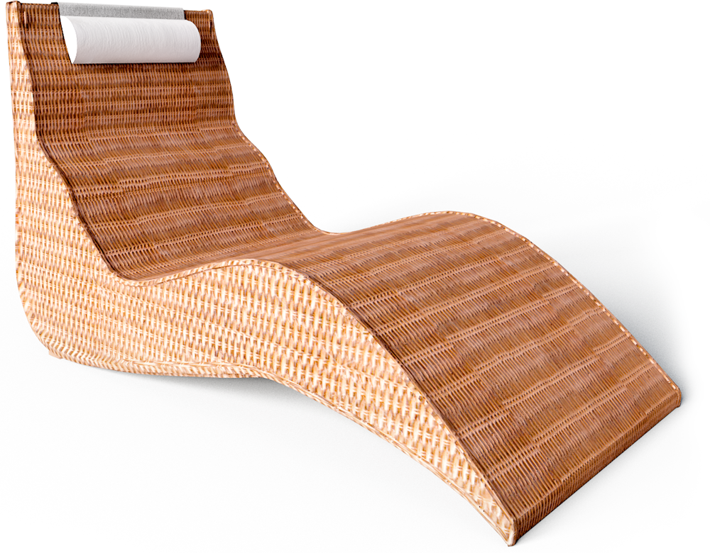 Karlskrona Lounger Chair  3D View