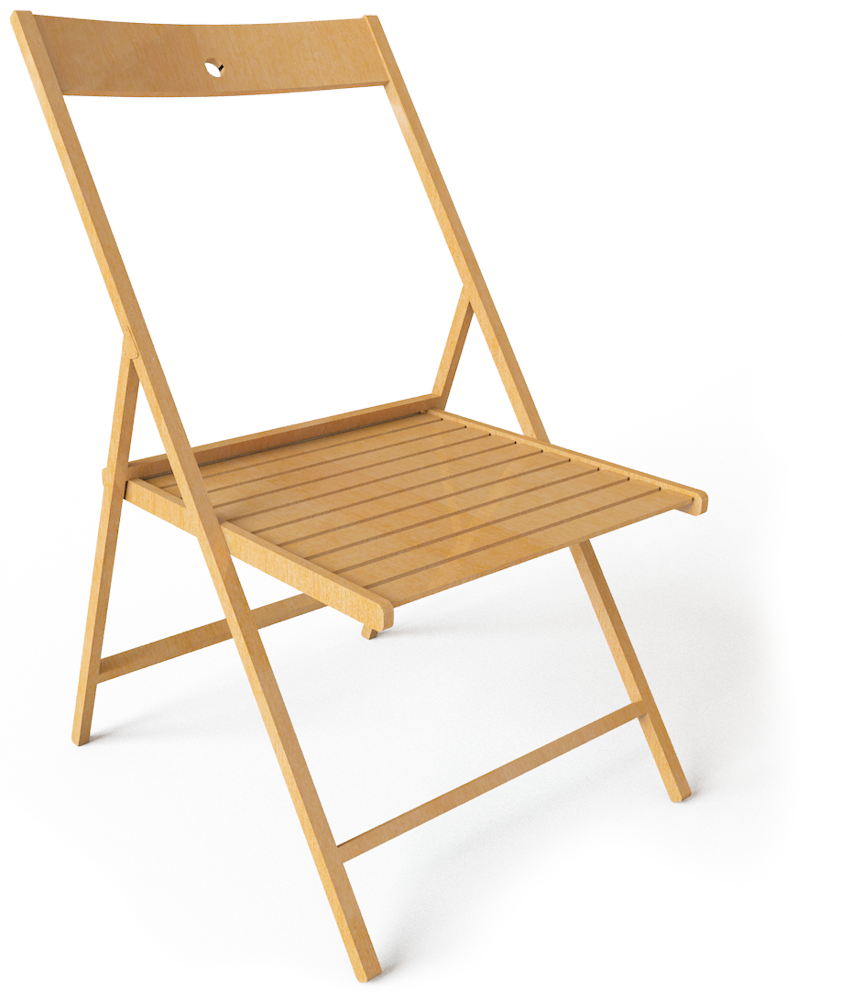 Cad and bim object terje folding chair ikea for Ikea folding stool