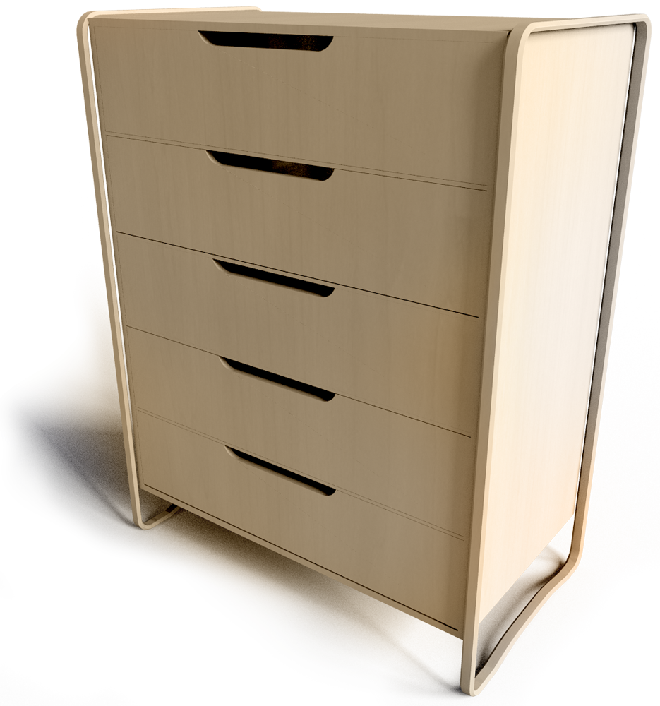 Anes Chest of 4 Drawers  3D View