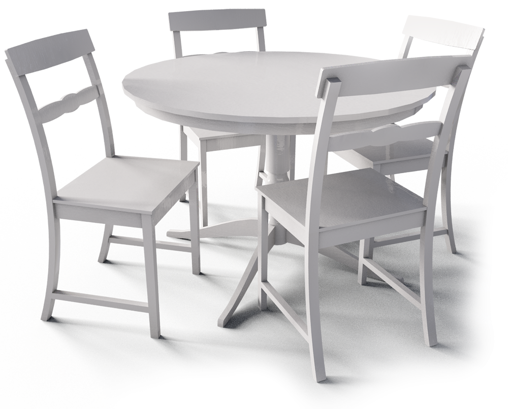 Liatorp Table and Chairs  3D View