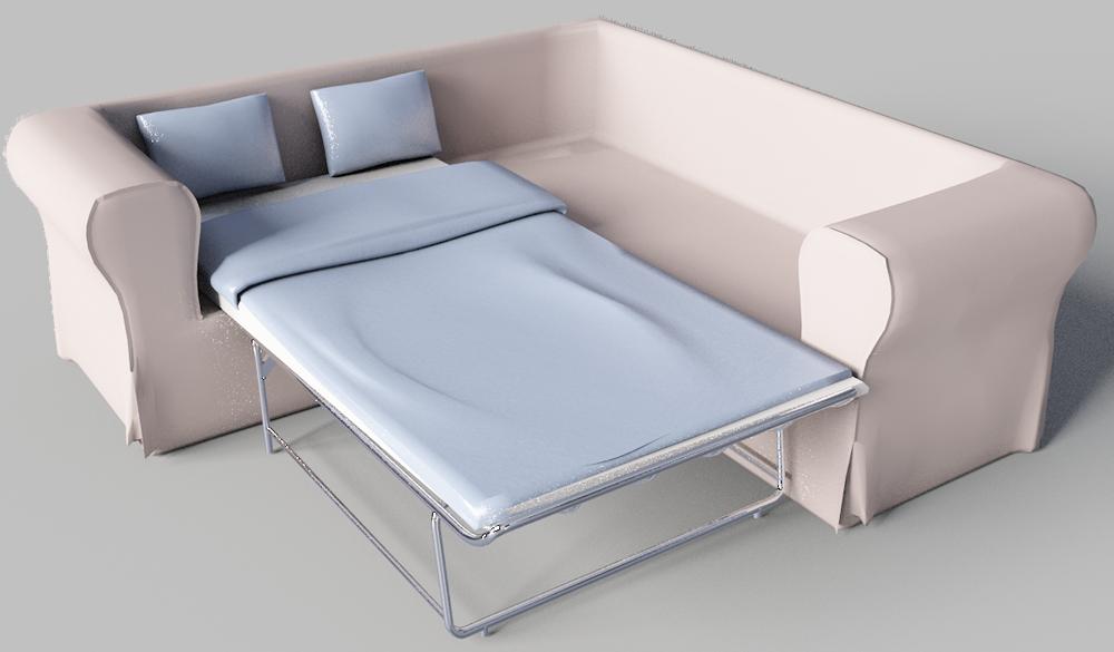 cad and bim object ektorp 2 seat corner bed sofa ikea. Black Bedroom Furniture Sets. Home Design Ideas