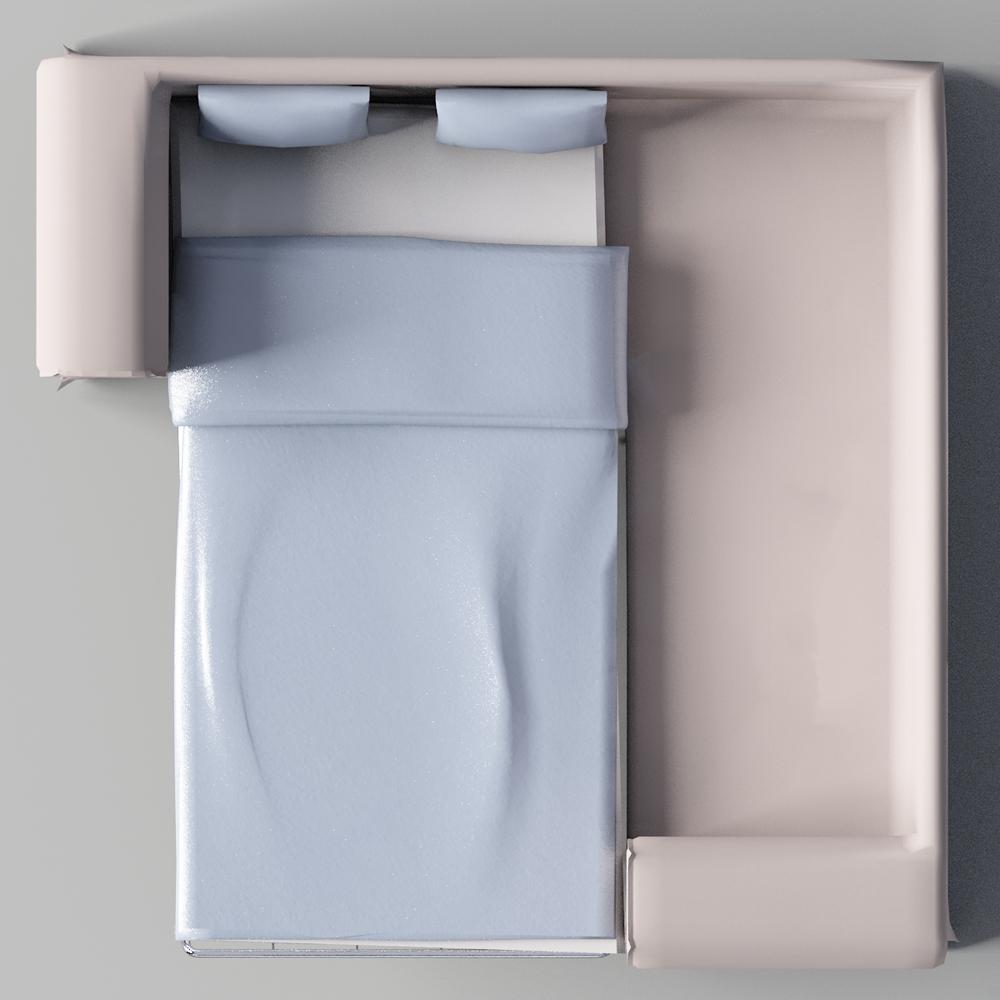Sofa ikea ektorp  CAD- und BIM-Objekte - Ektorp 2 Seat Corner Schlafsofa - IKEA