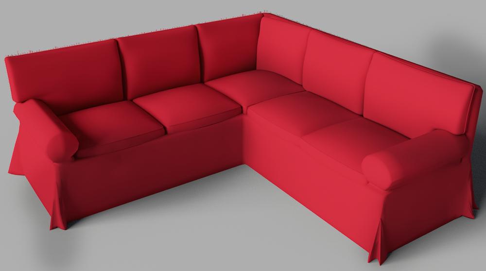 Cad And Bim Object Ektorp Seat Corner Bed Sofa Ikea