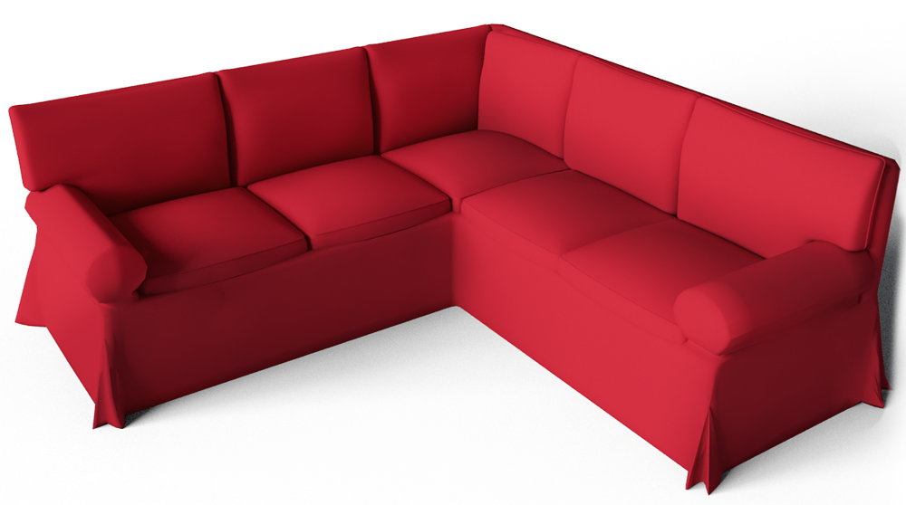Cad and bim object ektorp seat corner bed sofa ikea for Ikea corner sofa