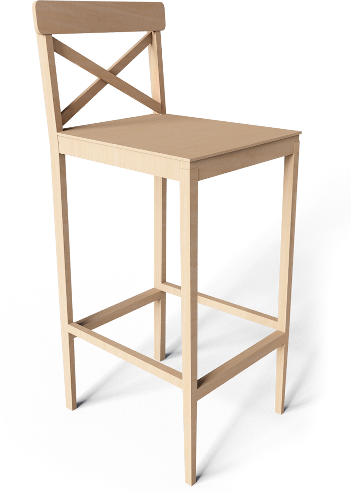 Cad And Bim Object Ingolf Bar Stool Ikea