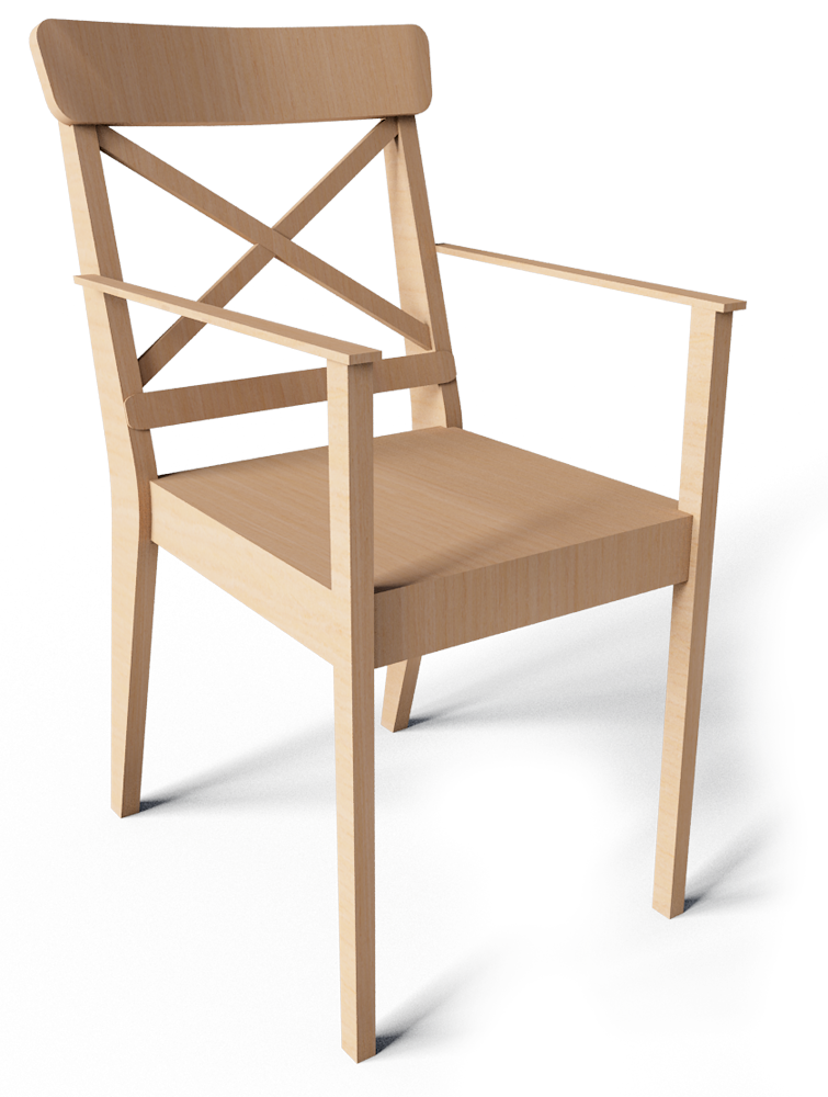 Cad and bim object ingolf chair with armrest ikea - Silla ingolf ikea ...