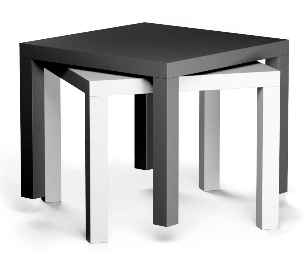 Bim Object Lack Side Table Black And White Ikea