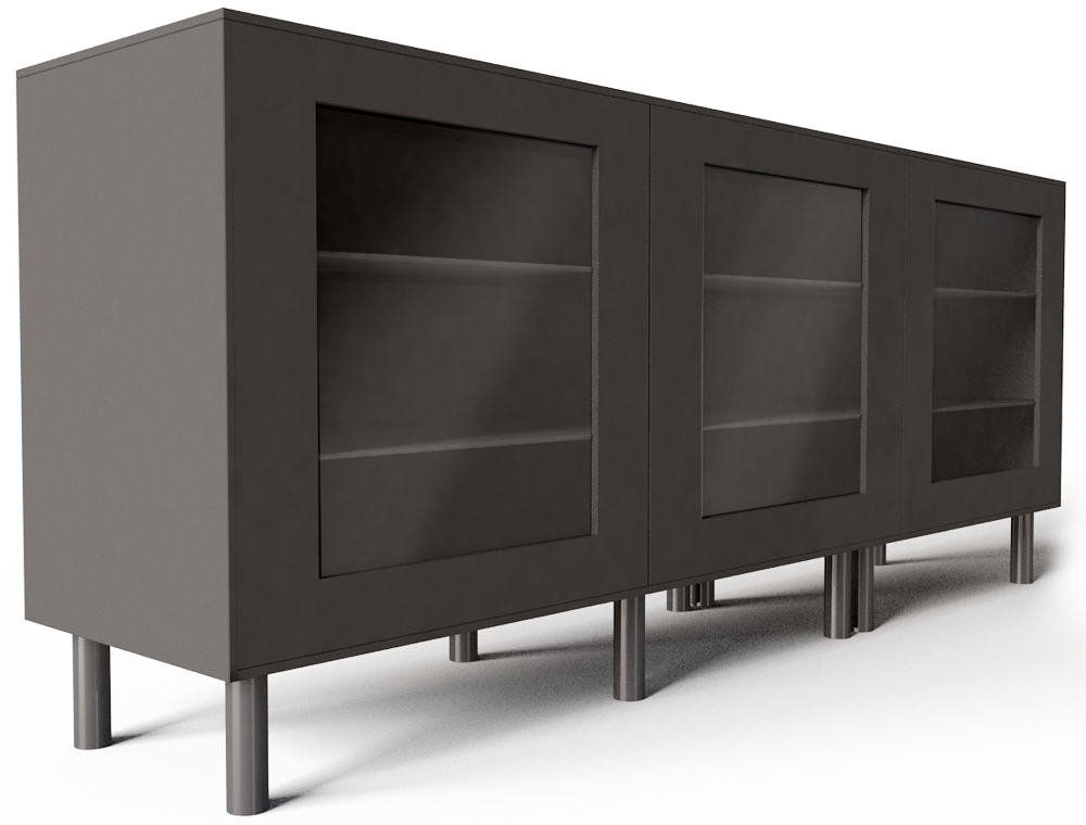 cad and bim object besta storage combination with doors black ikea. Black Bedroom Furniture Sets. Home Design Ideas