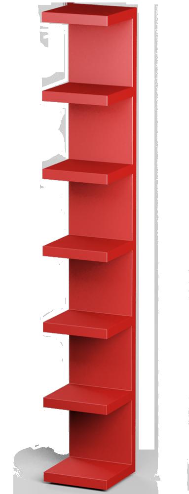 LACK Wall Shelf Unit Red