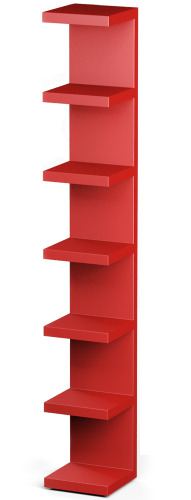 CAD En BIM Object LACK Wall Shelf Unit Red IKEA