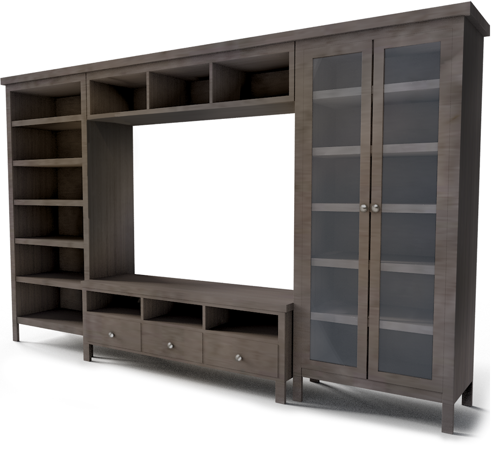 TV Storage Combination  3D View