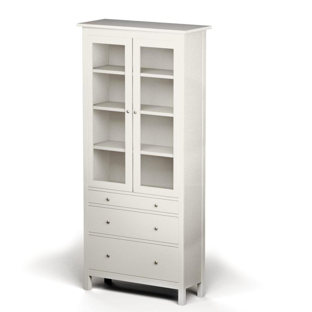 cad and bim object glass door cabinet with four drawers. Black Bedroom Furniture Sets. Home Design Ideas