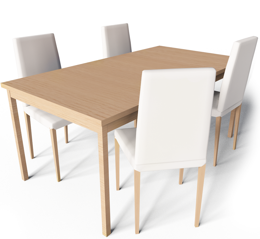 CAD and BIM object - Extendable Dining Table