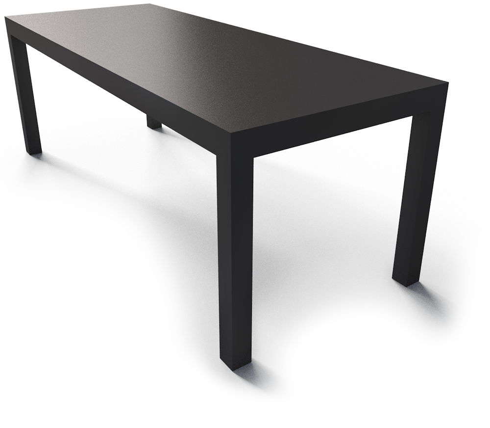 CAD and BIM object - Lack Black Table