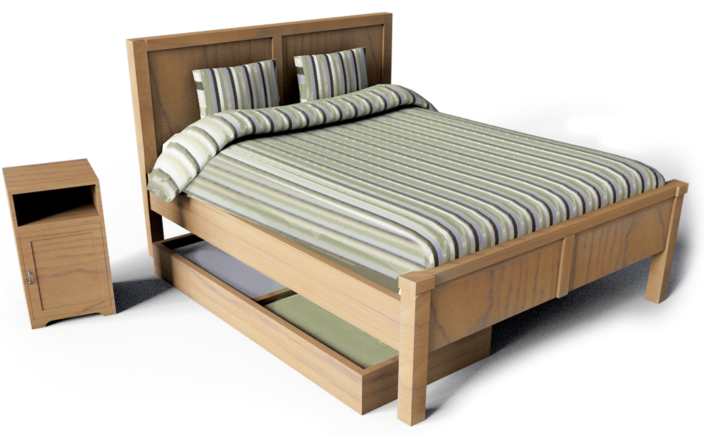 Aspelund Double Bed  3D View