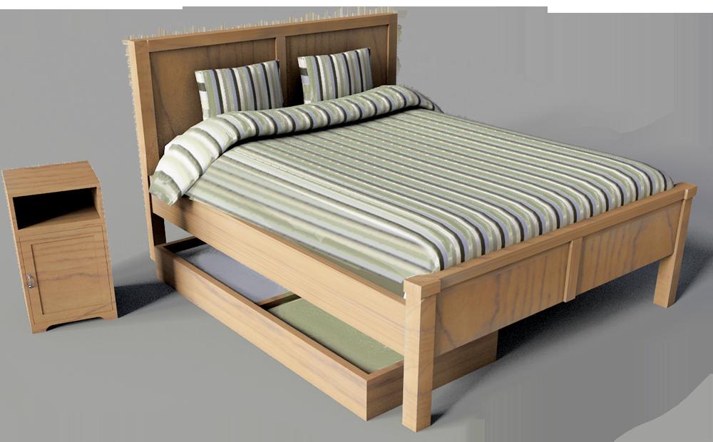Cad and bim object aspelund double bed ikea - Lit double 140x190 ikea ...
