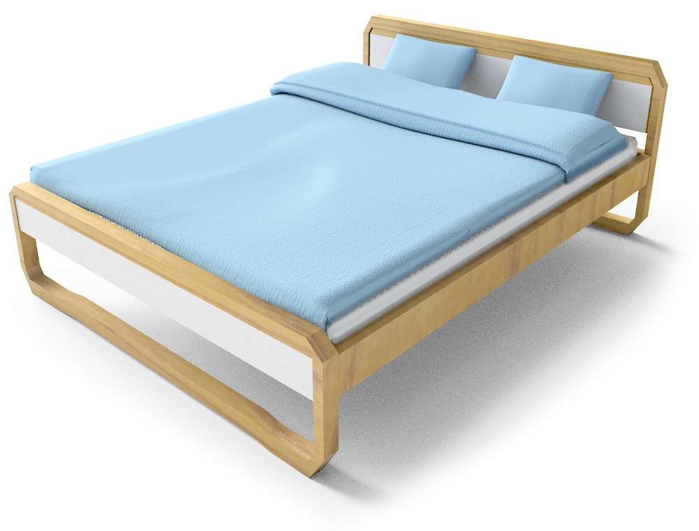 Anes Double Bed  3D View