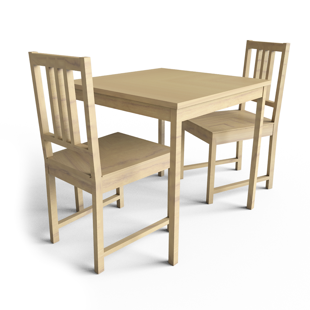 cad and bim object ingo table and stefan chairs ikea. Black Bedroom Furniture Sets. Home Design Ideas