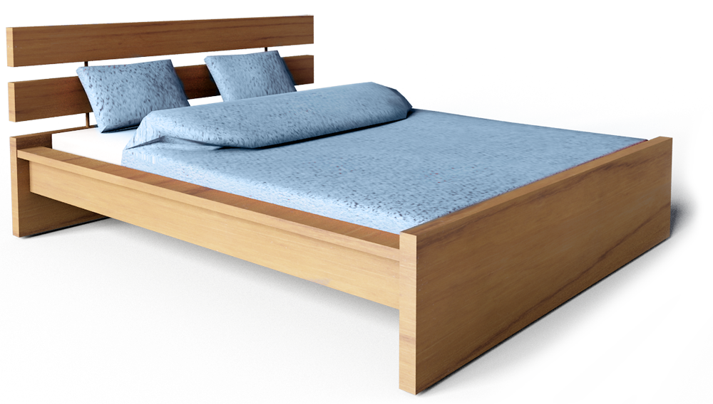 Hopen Bed 160  3D View