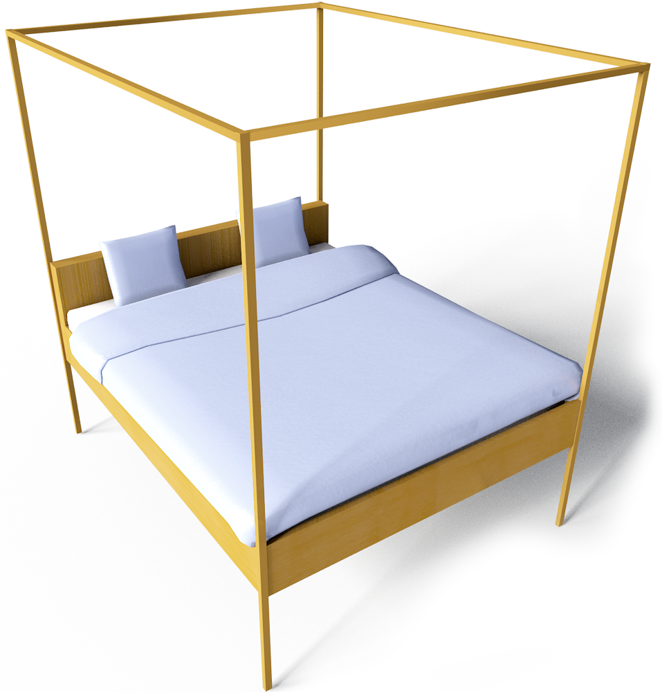 Hemnes Bed 160  3D View