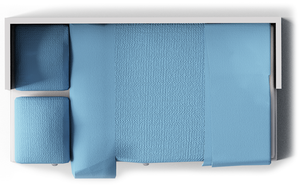 Objeto BIM y CAD - Marco de la cama del dia de Hemnes - IKEA