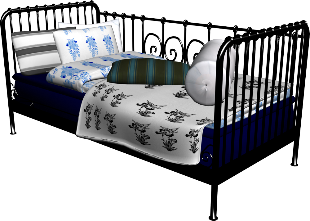 Meldal Single Bed 2  3D View
