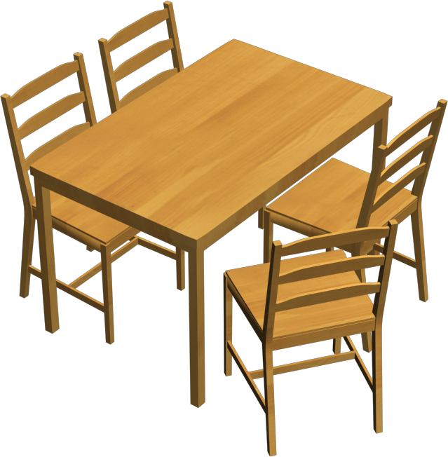 Cad and bim object jokkmokk table and 4 chairs ikea for Table 4 personnes ikea