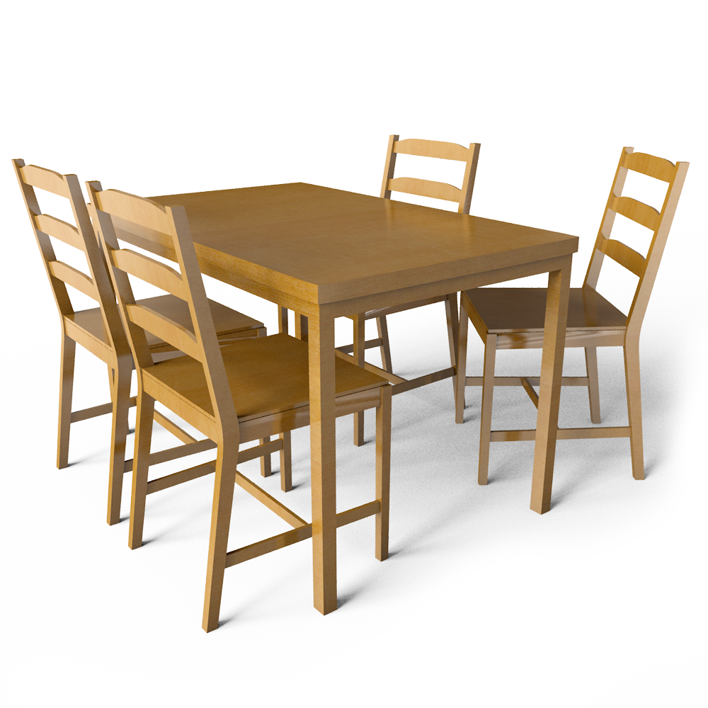 cad and bim object jokkmokk table and 4 chairs ikea