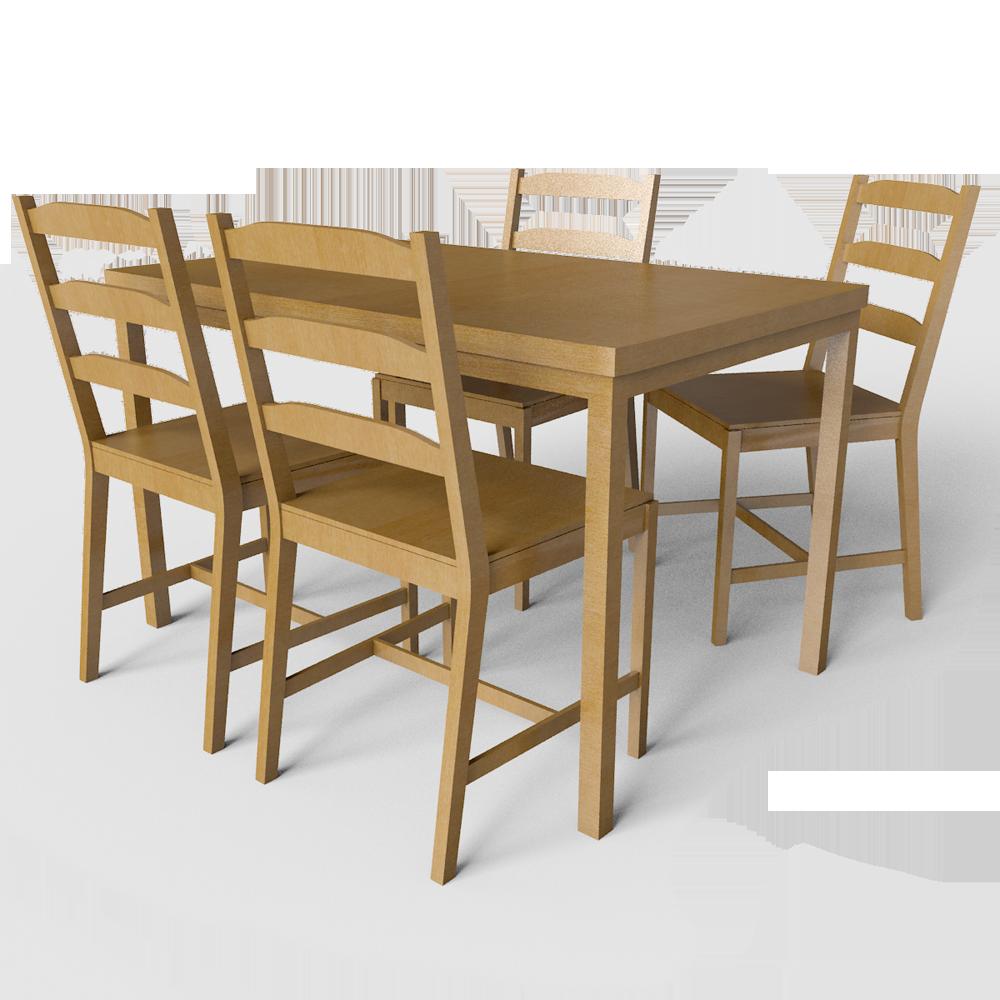 Cad and bim object jokkmokk table light brown ikea - Table lit ordinateur ikea ...