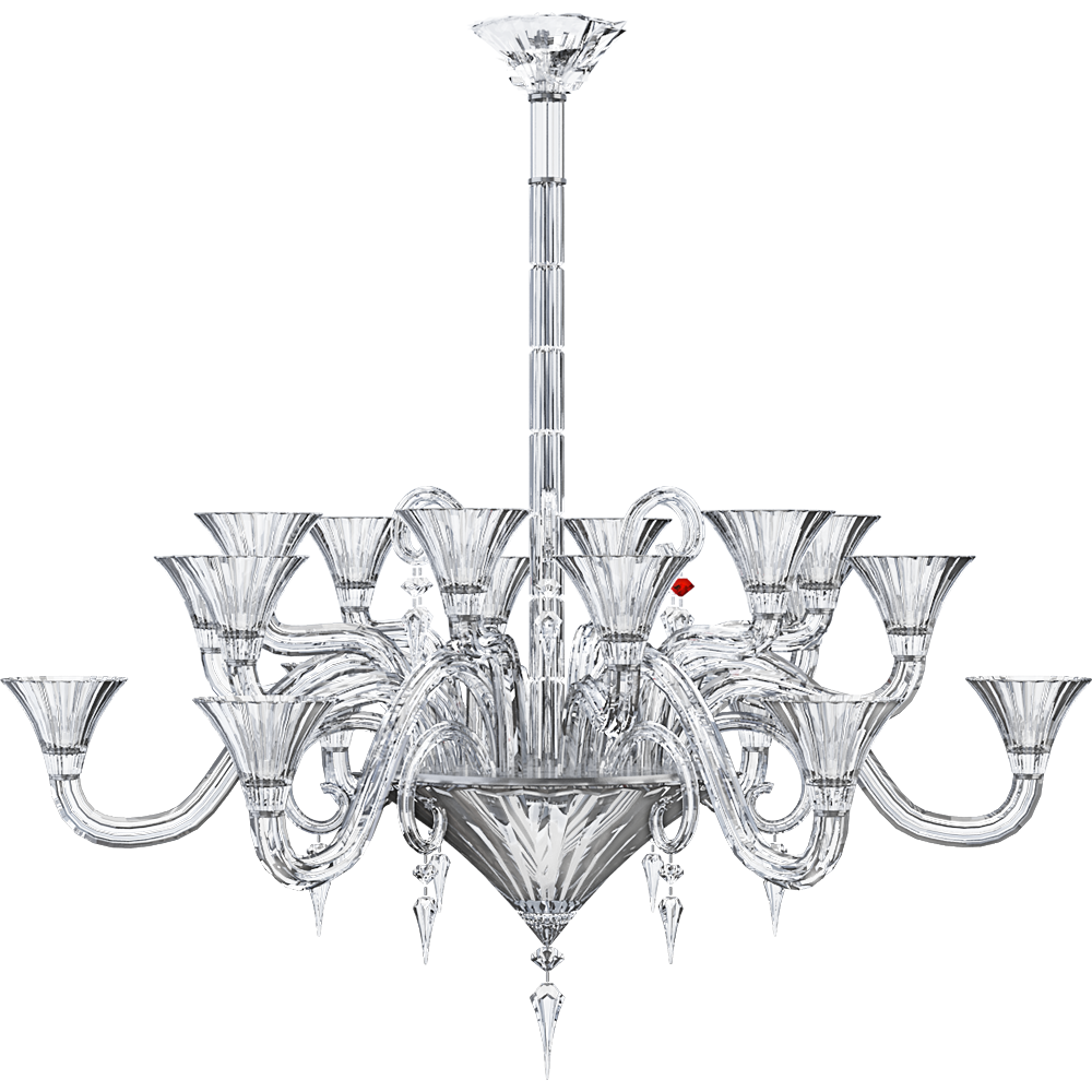 CAD and BIM object - Mille Nuits Chandelier 18L - Baccarat