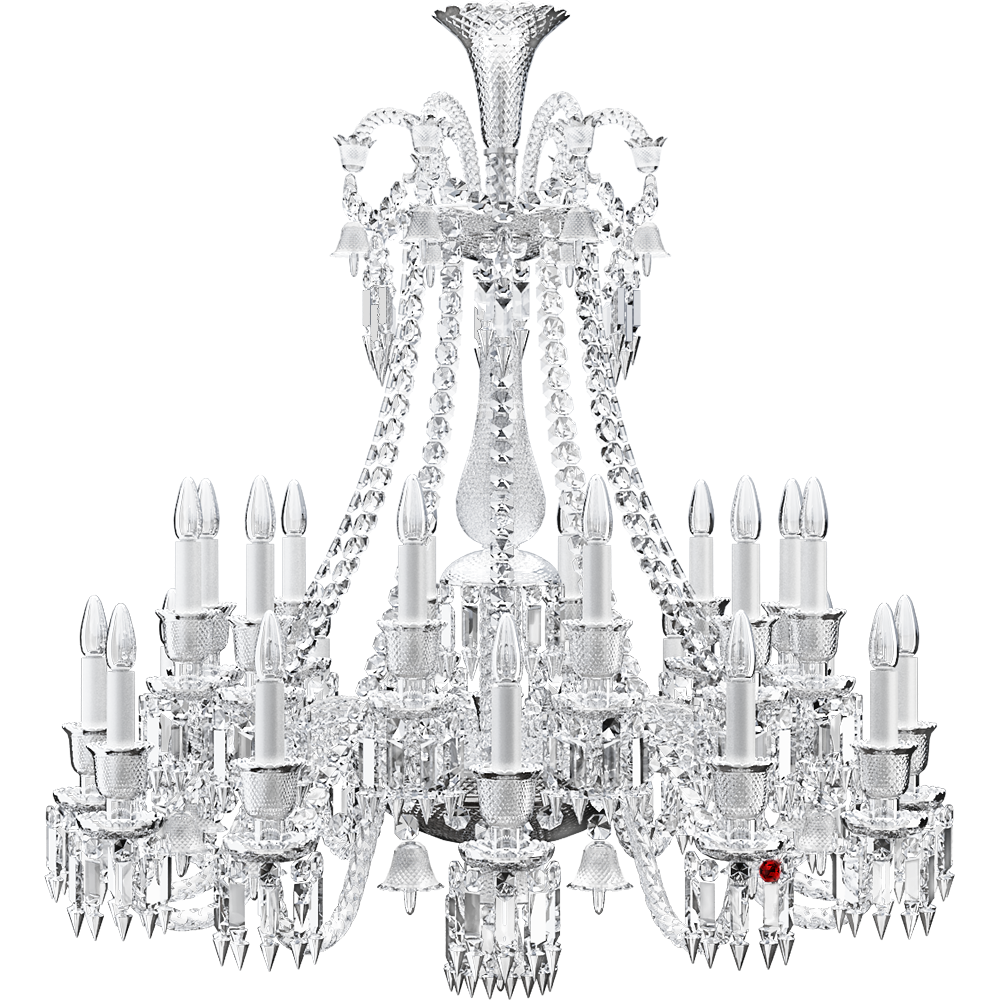 Cad And Bim Object Zenith Chandelier 24l Baccarat