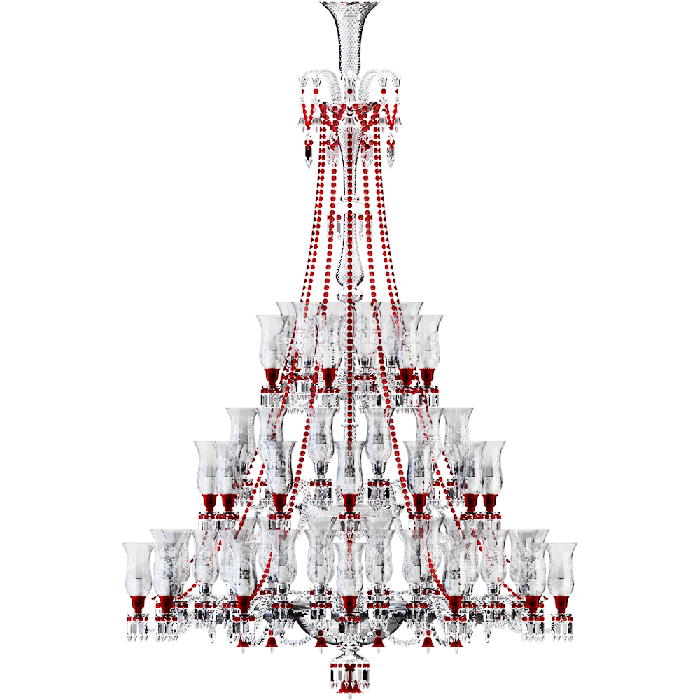Cad and bim object zenith clear and red chandelier 84l baccarat zenith clear and red chandelier 84l aloadofball Images