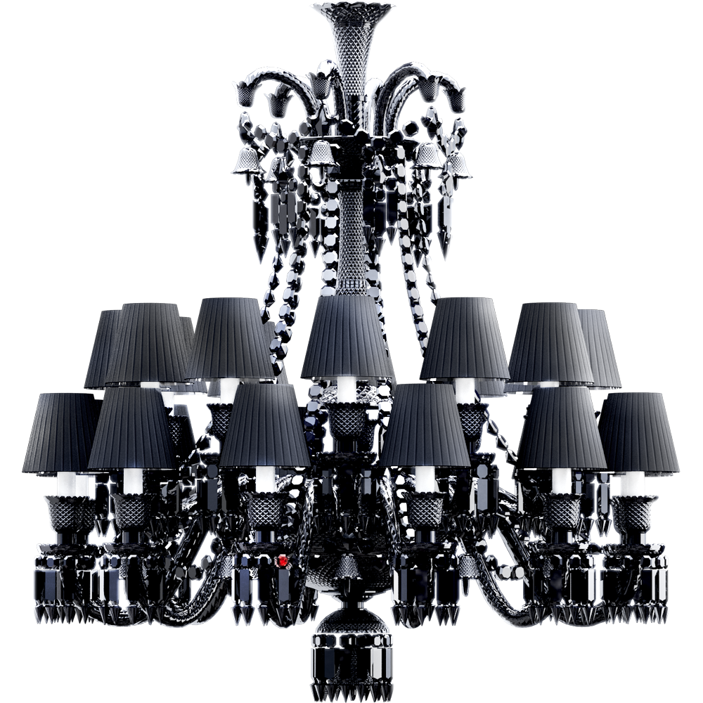 Cad and bim object zenith chandelier 24l black crystal baccarat zenith chandelier 24l black crystal 3d view arubaitofo Images