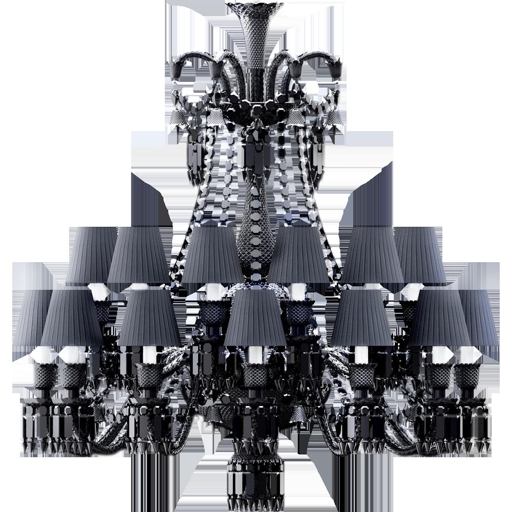 black crystal lighting. front black crystal lighting