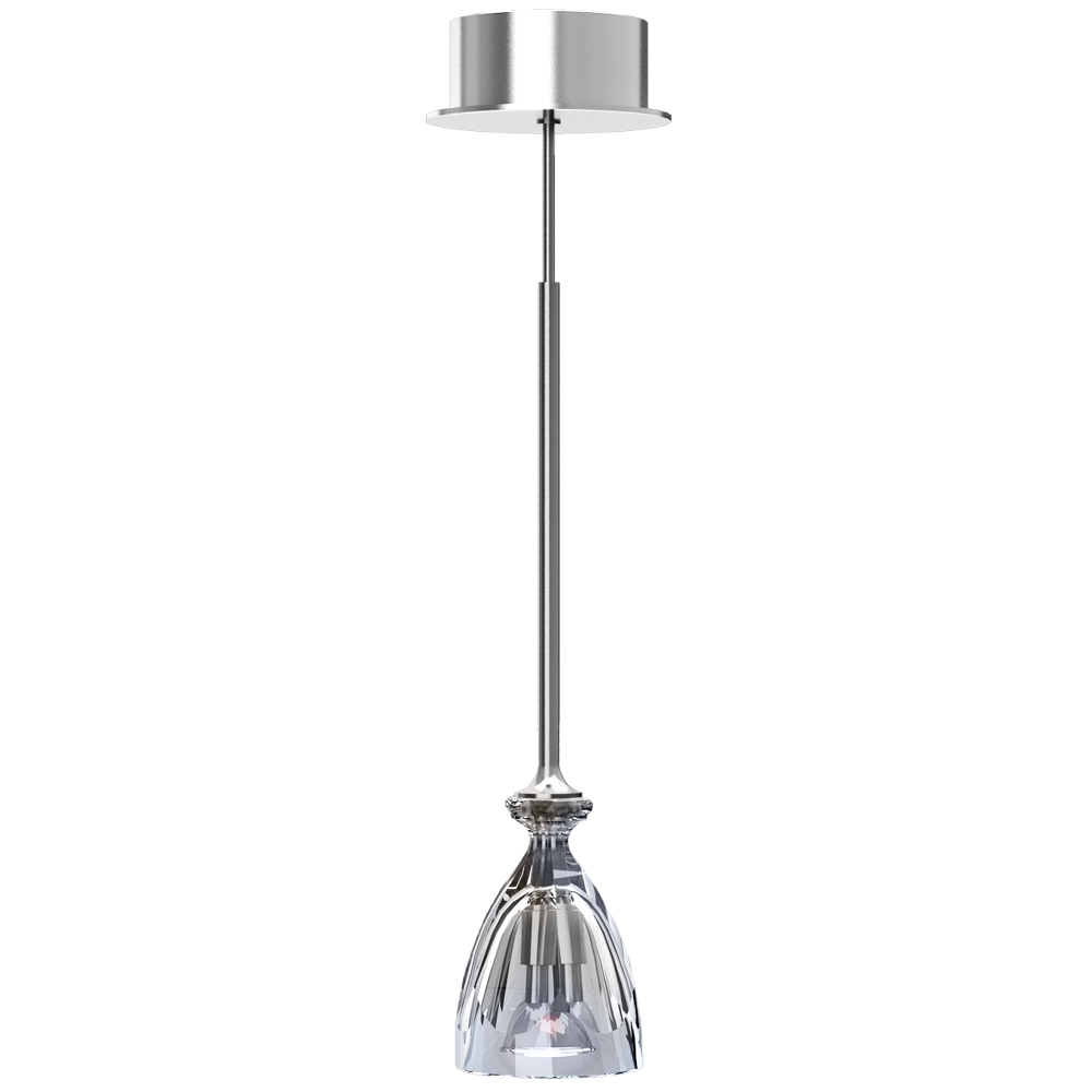 HIC Ceiling Lamp Clear Crystal and Silver Coating