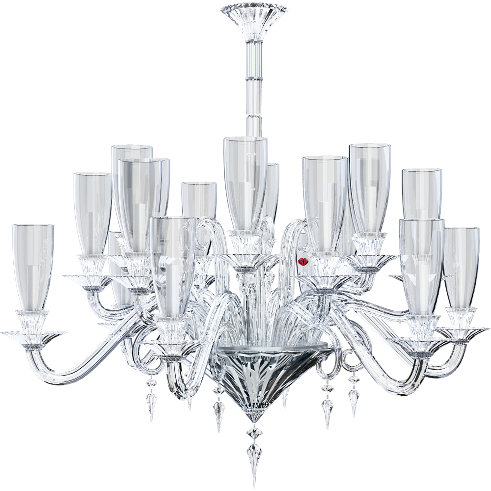 CAD and BIM object - Mille Nuits Chandelier 18L Hurricane shade ...