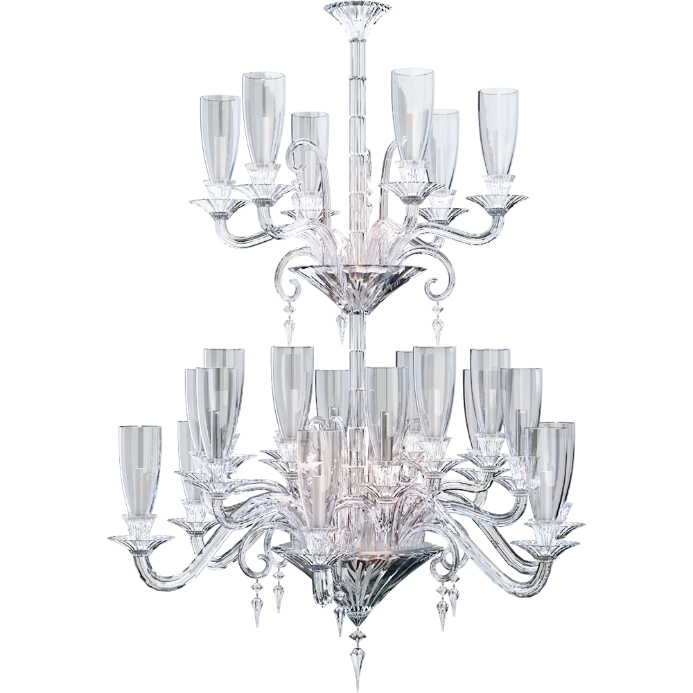 Mille Nuits Chandelier 24L Hurricane shade holders
