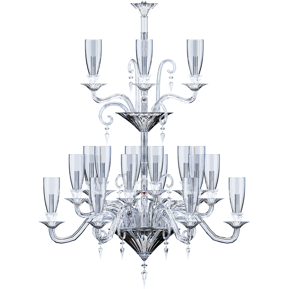 CAD and BIM object - Mille Nuits Chandelier 36L - Baccarat